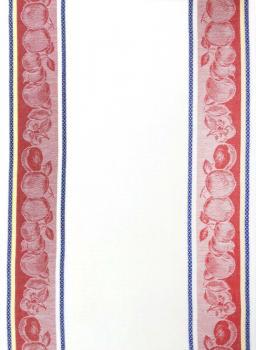 Полотенце кухонное 50*80см жаккардовое, полулен, белый фон (Овощи, красный)