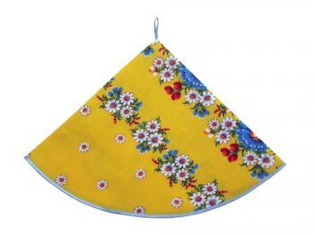 Полотенце вафельное круглое (Полянка, желтый)