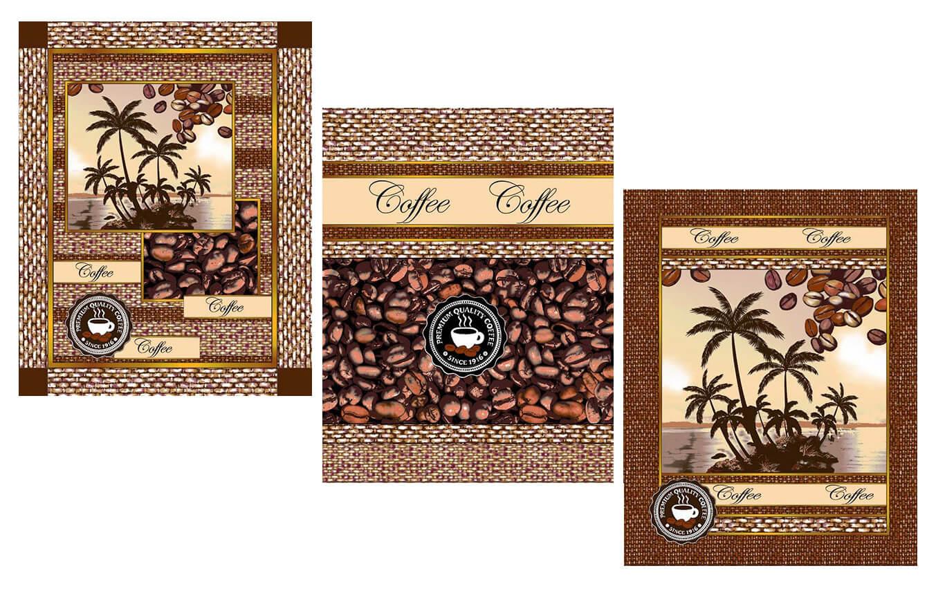 Комплект вафельных полотенец 48*60 см, 3 штуки (Аромат кофе)