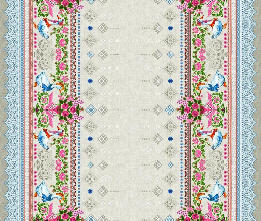 Скатерть 150*150 см, рогожка (Гуси. Жених и невеста)