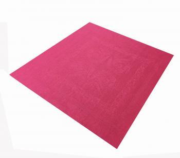 Комплект льняных салфеток, 6 шт.,45*45 см, лен 100 % (Ландыши, бордовый)