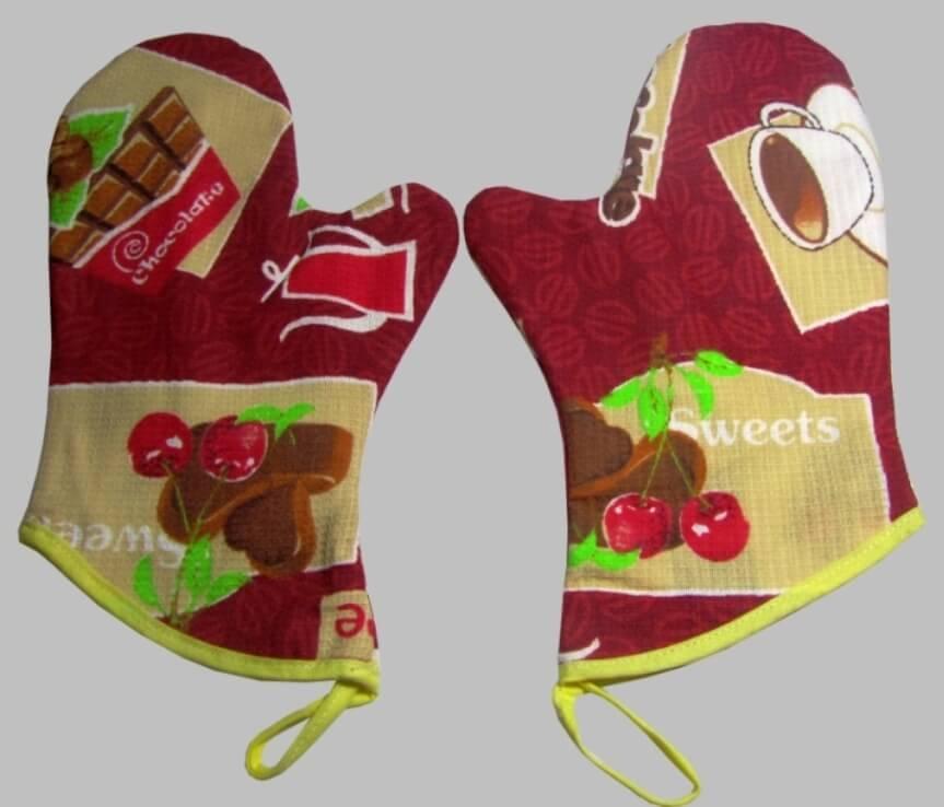 Комплект рукавиц для кухни, 2 штуки