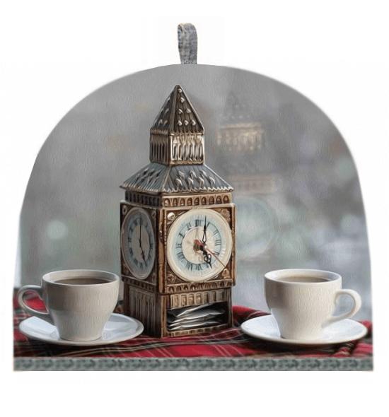 Грелка на чайник, печатный рисунок (Английский завтрак)