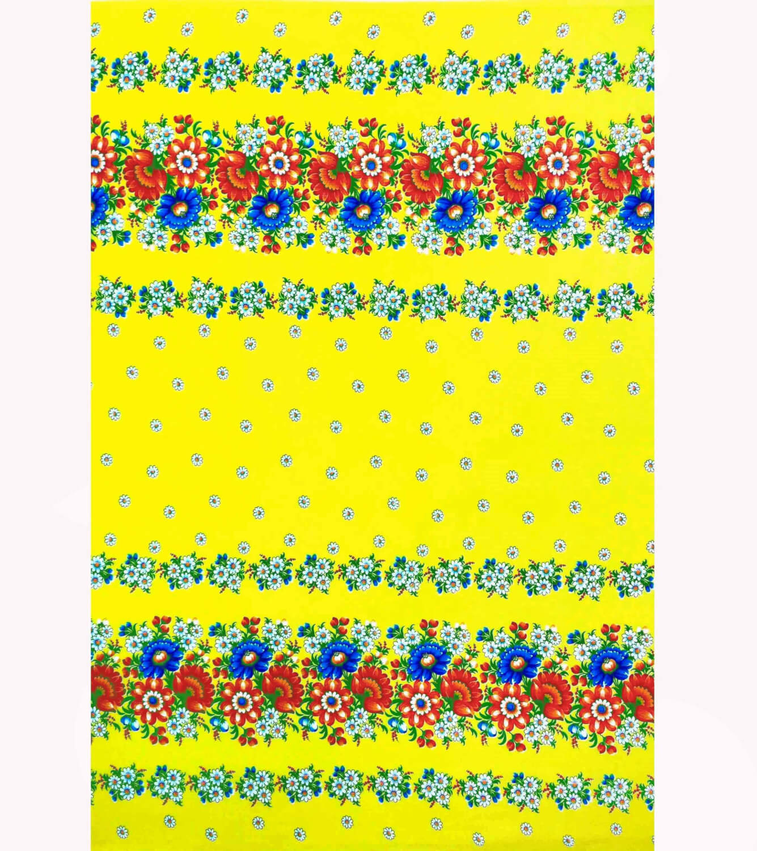 Полотенце вафельное пляжное 80*150 см (Полянка,желтый)