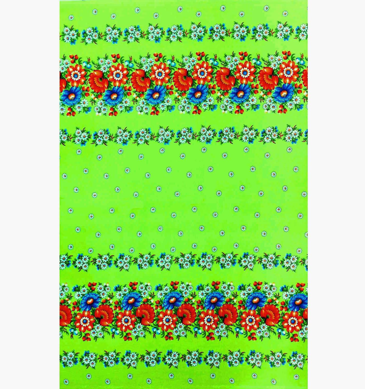 Полотенце вафельное пляжное 80*150 см (Полянка, зеленый)