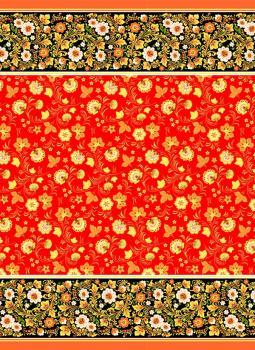 Полотенце вафельное пляжное 80*150 см (Сказка, красный)