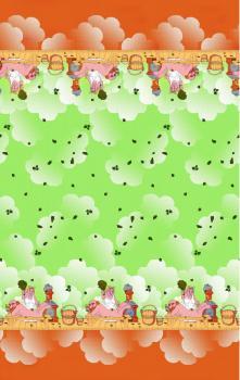 Полотенце вафельное пляжное 80*150 см (Парильщица, зеленый)