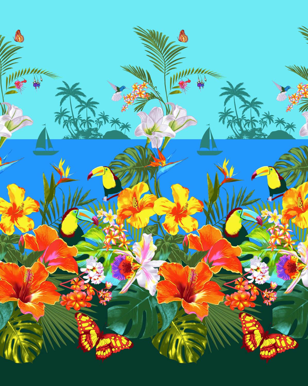 Полотенце вафельное пляжное 100*150 см (Багамы)