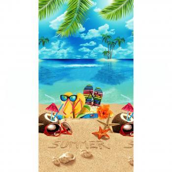 Полотенце вафельное пляжное 80*150 см (Отпуск)