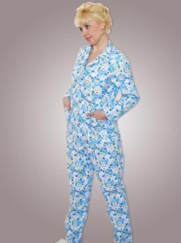 _Пижама ночная женская,модель 417,фланель