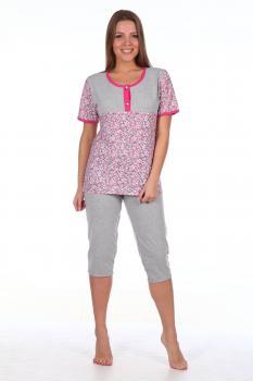 Пижама ночная женская, модель 438, трикотаж (Розали)
