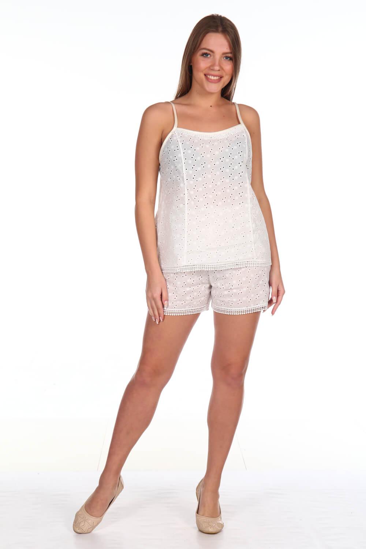 Пижама ночная женская, модель 409, батист (Шампань)