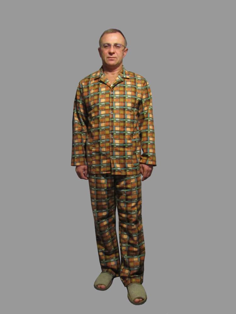 _Пижама мужская,модель203,фланель