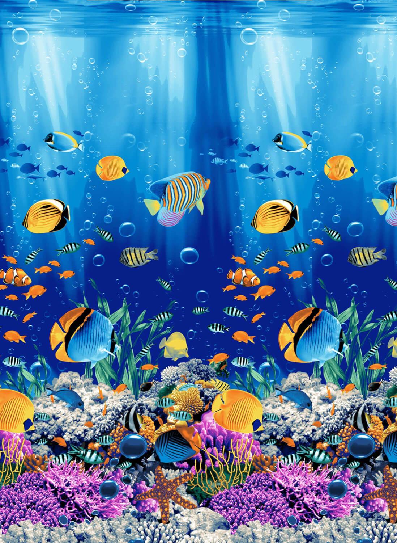 Полотенце вафельное пляжное 100*150 см (Подводный мир 3 D)