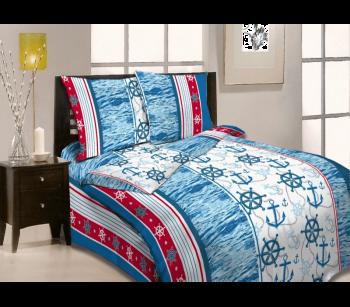 """Комплект постельного белья 1,5-спальный, бязь """"Люкс"""", детская расцветка (Морской бриз)"""