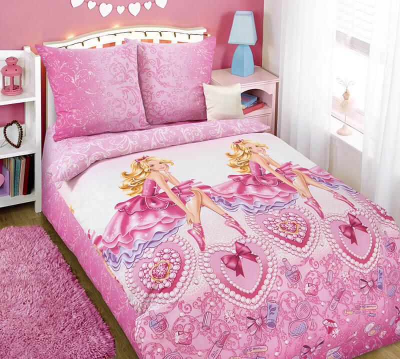 """Комплект постельного белья 1,5-спальный, бязь """"Люкс"""", детская расцветка (Блеск)"""