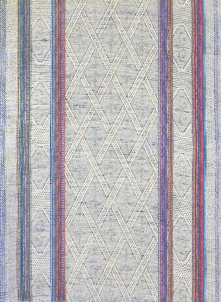 Полотенце кухонное 50*80 см жаккардовое, полулен, цветной фон (Ромбы, синий)