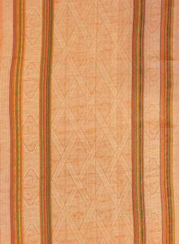 Полотенце кухонное 50*80 см жаккардовое, полулен, цветной фон (Ромбы, оранжевый)