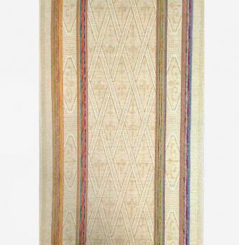 Полотенце кухонное 50*80 см жаккардовое, полулен, цветной фон (Ромбы, бежевый)