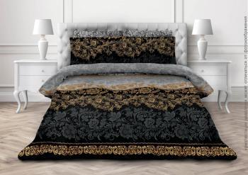 Комплект постельного белья Евростандарт, бязь  ГОСТ (Черная магия)