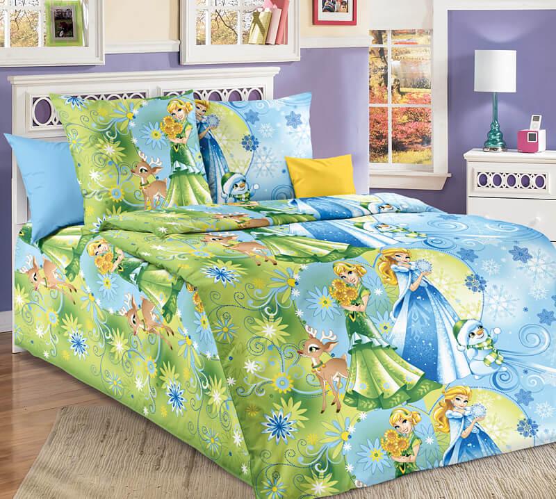 """Комплект постельного белья 1,5-спальный, бязь """"Люкс"""", детская расцветка (Сестрички)"""