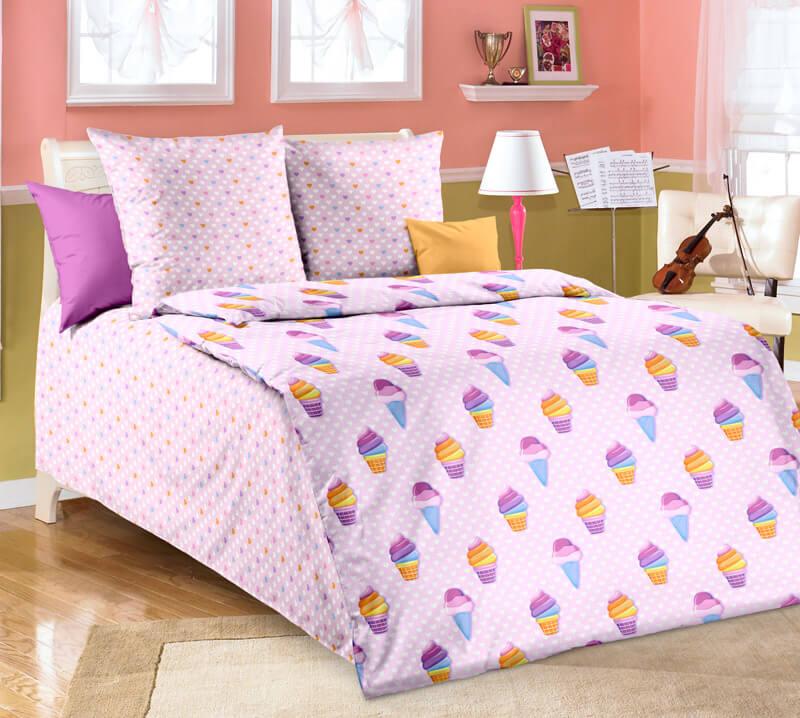 """Комплект постельного белья 1,5-спальный, бязь """"Люкс"""", детская расцветка (Лакомка)"""