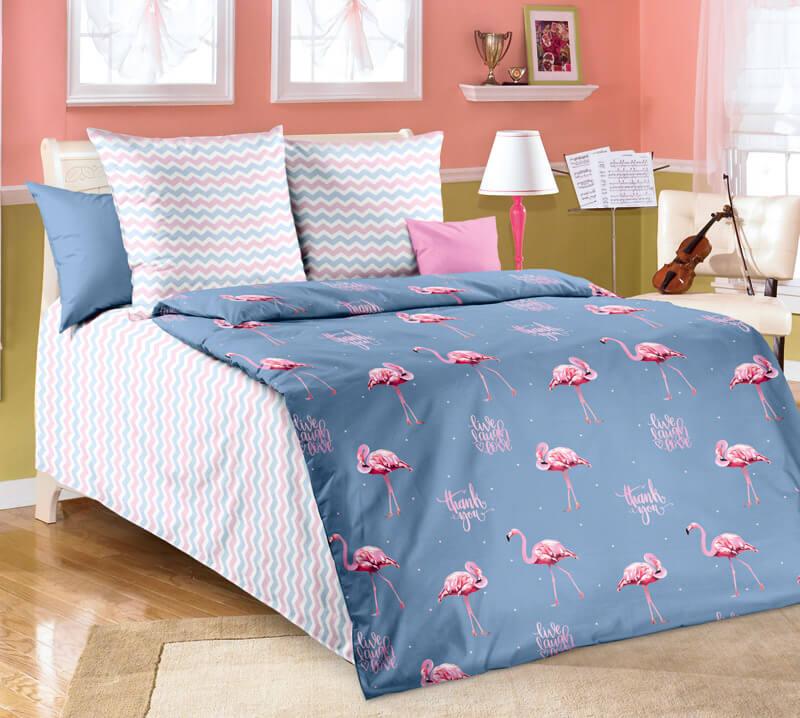 """Комплект постельного белья 1,5-спальный, бязь """"Люкс"""", детская расцветка (Ванильное небо)"""