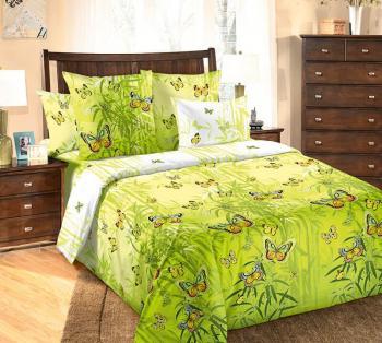 """Простыня 2-спальная, бязь """"Люкс"""" (Гармония, зеленый)"""