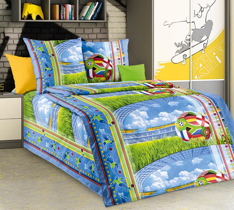 """Комплект постельного белья 1,5-спальный, бязь """"Люкс"""", детская расцветка (Матч 3 D)"""