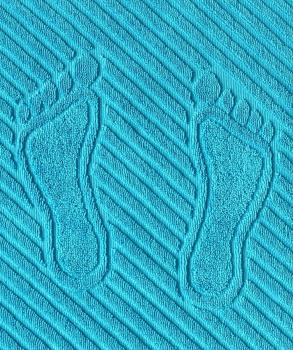 Коврик для ног, махровая ткань, хлопок 100 % (Бирюзовый)