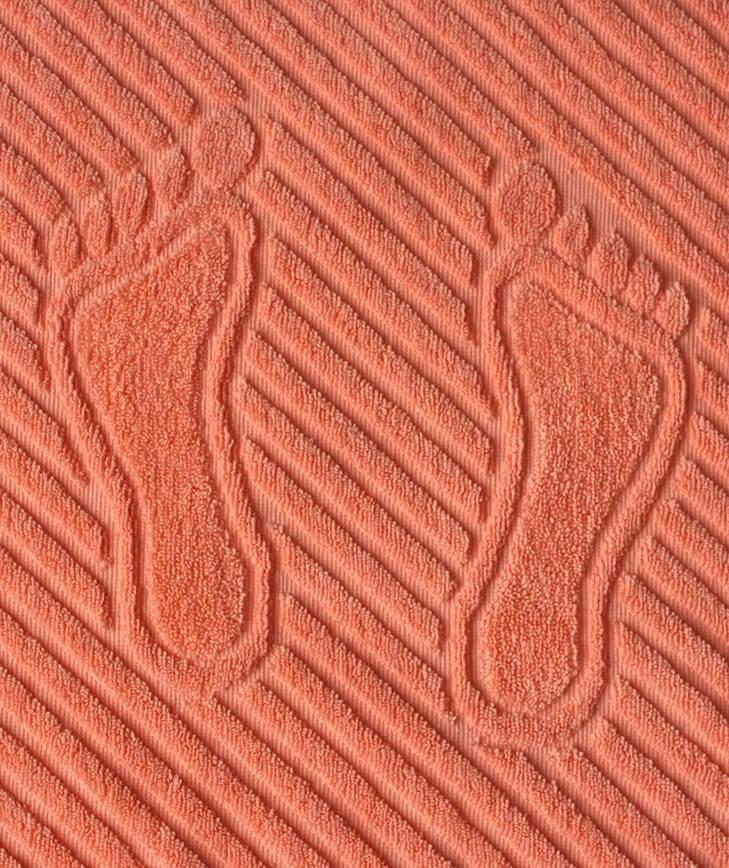 Коврик для ног, махровая ткань, хлопок 100 % (Персиковый)