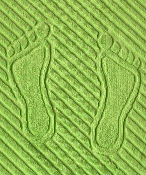 Коврик для ног, махровая ткань, хлопок 100 % (Салатовый)
