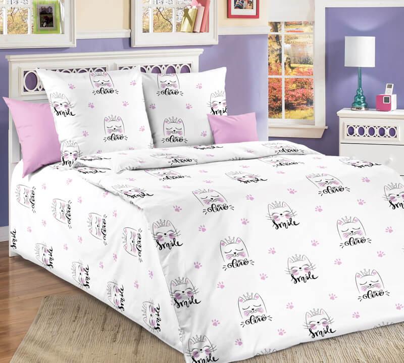 """Комплект постельного белья 1,5-спальный, бязь """"Люкс"""", детская расцветка (Китти)"""