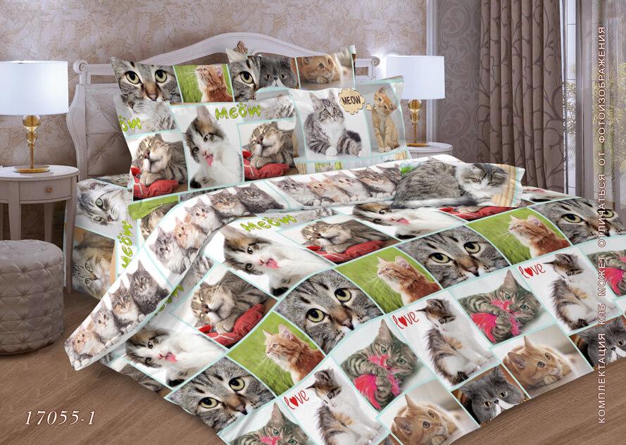 Пододеяльник 2-спальный, бязь ГОСТ (Галерея кошек)