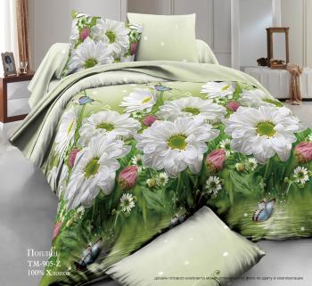 Комплект постельного белья Евромакси, поплин (Летний день)