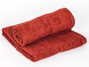Махровое гладкокрашенное полотенце 70*140 см (Винно-красный)