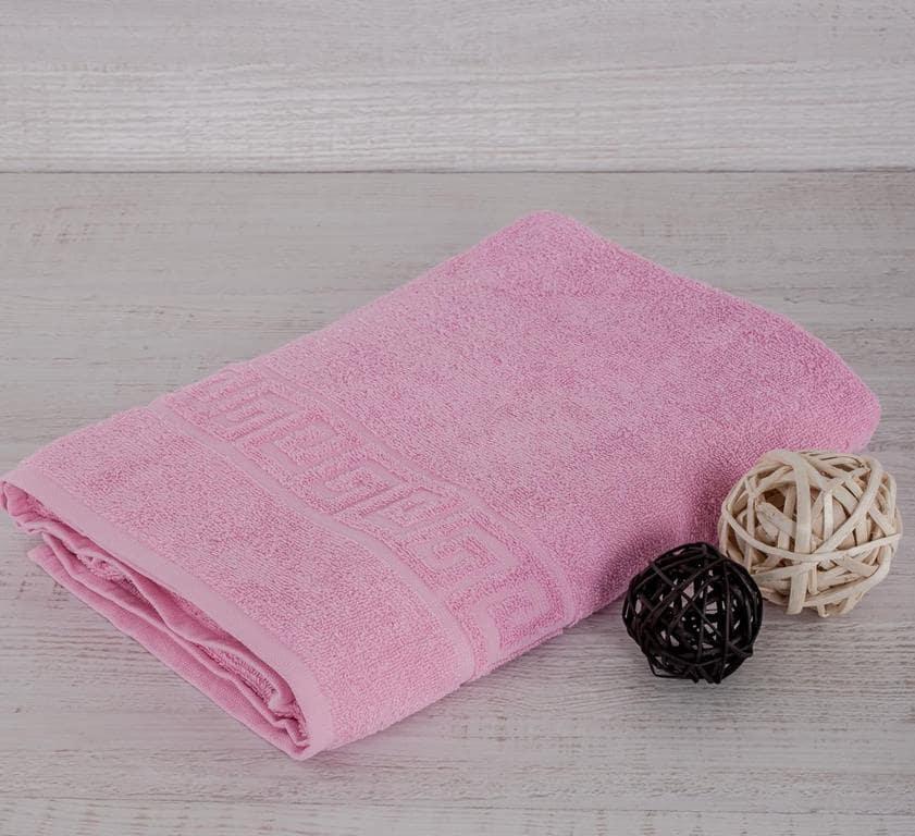 Махровое гладкокрашенное полотенце 40*70 (Розовый)