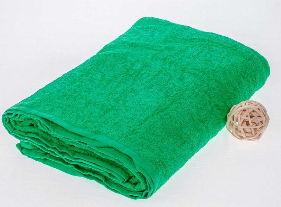 Махровая простыня 155*220 см, гладкокрашенная (Зеленый)