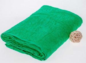 Махровая простыня 190*220 см, гладкокрашенная (Зеленый)