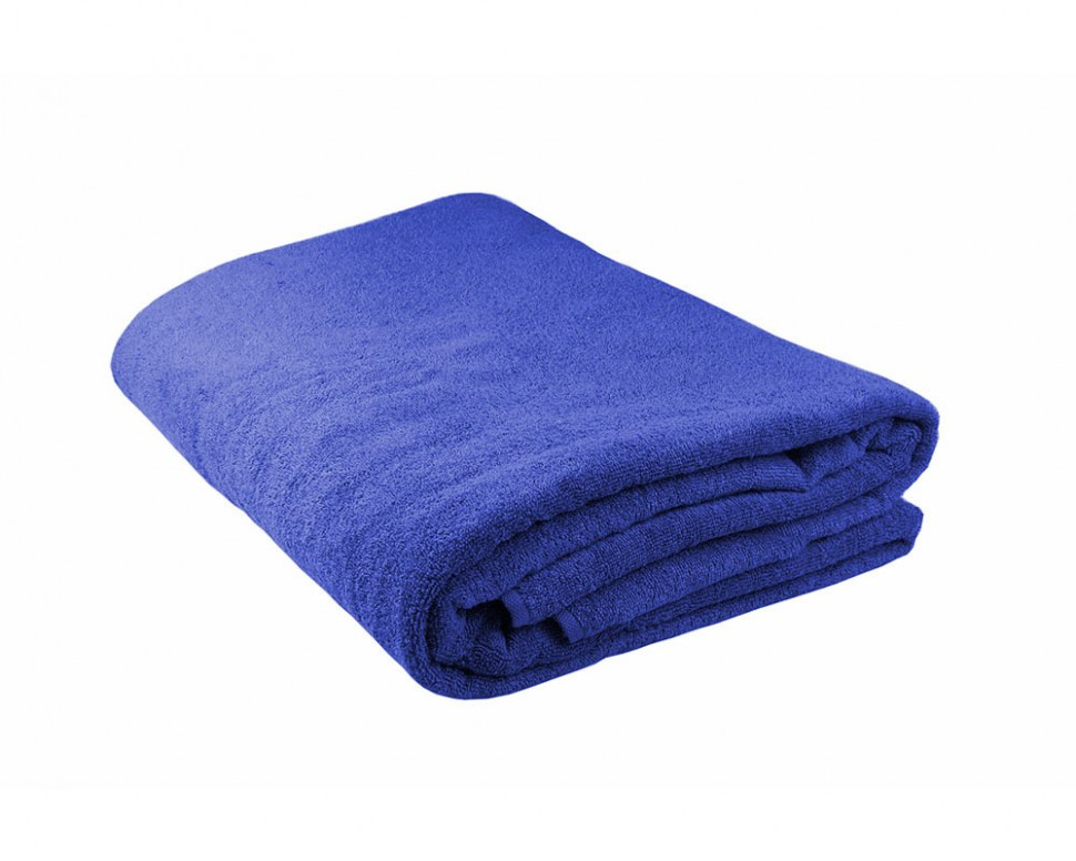 Махровая простыня 190*220 см, гладкокрашенная (Синий)
