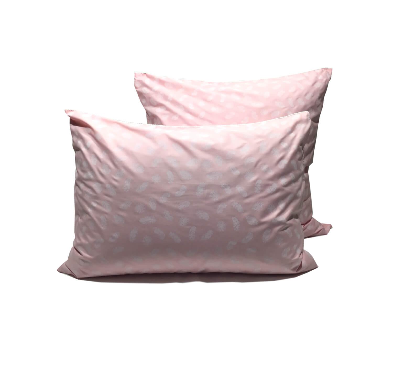Наперник на молнии 50*70 см (Перья, розовый)