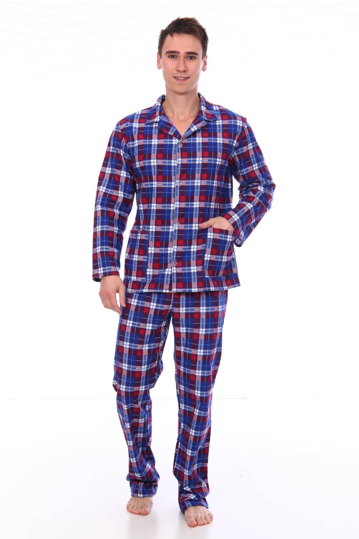 Пижама мужская,модель203,фланель (Клетка, вид 1)