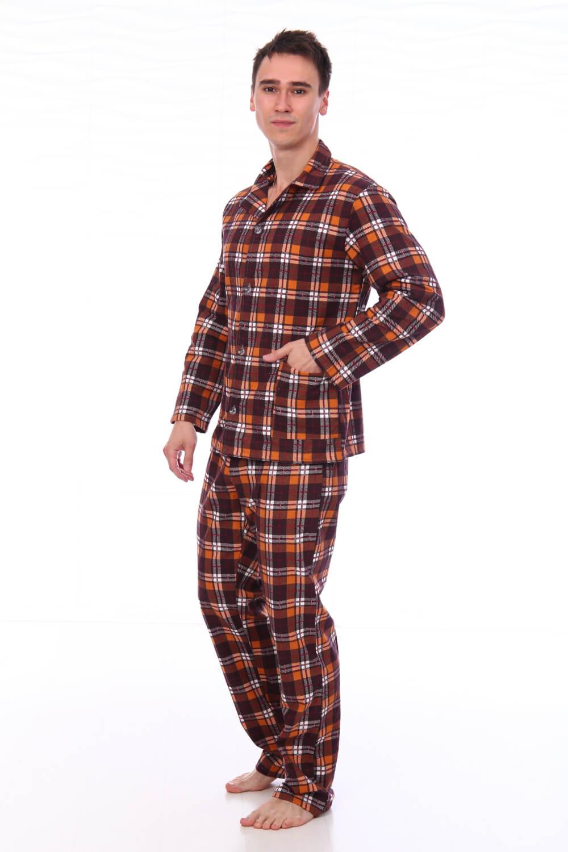 Пижама мужская,модель203,фланель (Клетка, вид 3)