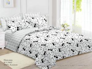 Комплект постельного белья Евромакси, поплин (Кэт)