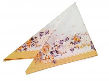 Головной платок, ситец, хлопок 100% (Полянка, персиковый)