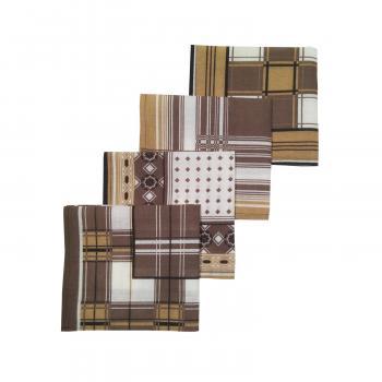 Комплект мужских носовых платков 30*30 см, 10 шт.,Шуйский ситец (Марсель, коричневый)
