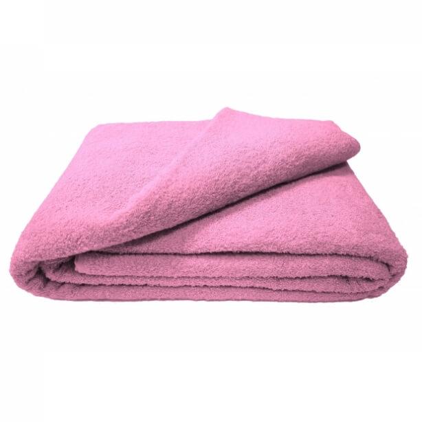 Махровая простыня 180*220 см г/кр (Розовый)