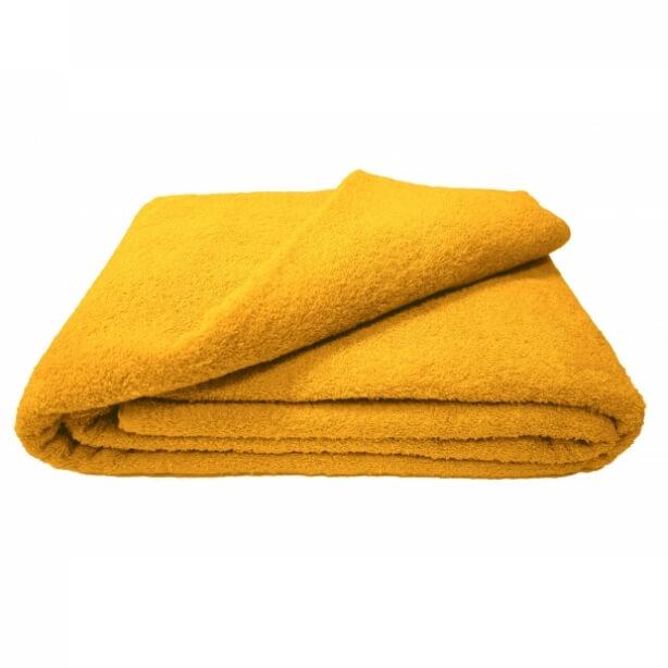 Махровая простыня 180*220 см г/кр (Желтый)