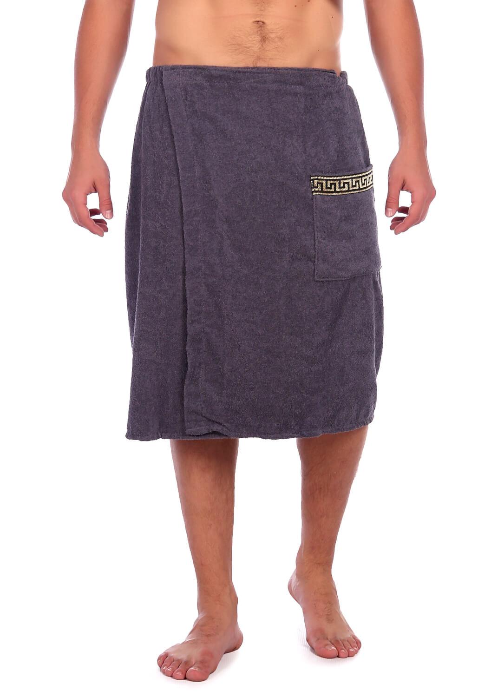 Килт-полотенце на липучке,100 % хлопок (Серый)