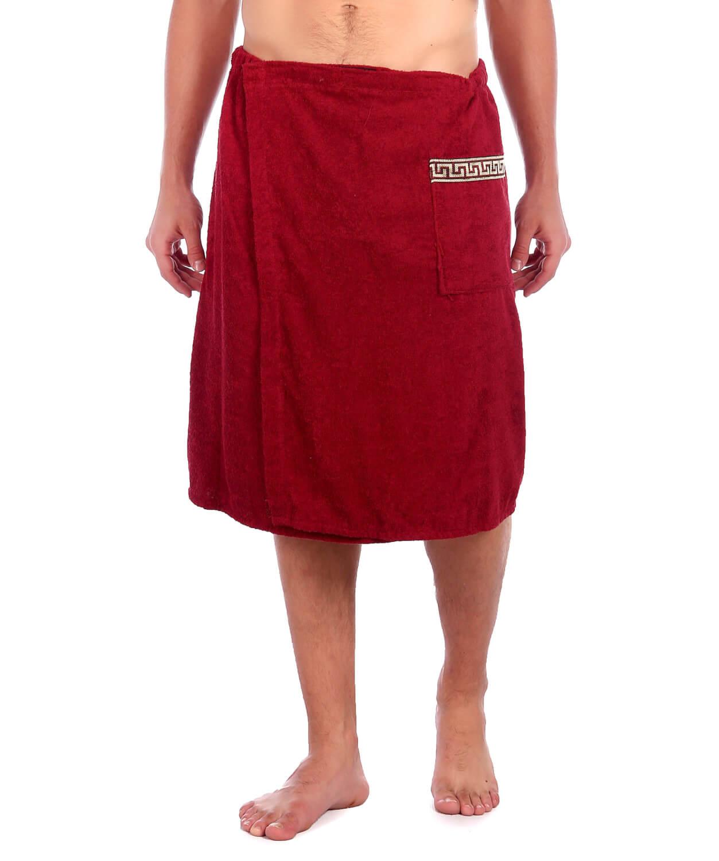 Килт-полотенце на липучке,100 % хлопок (Бордовый)